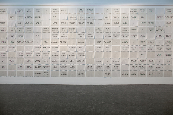 The Mark on the Wall by Virginia Woolf, installation and artist's book 2