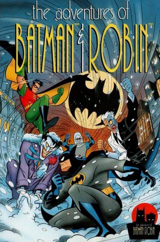 Packaging for The Adventures of Batman & Robin game, released November 1994.