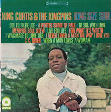 King Curtis &amp; The Kingpins – <cite>King Size Soul</cite> album art