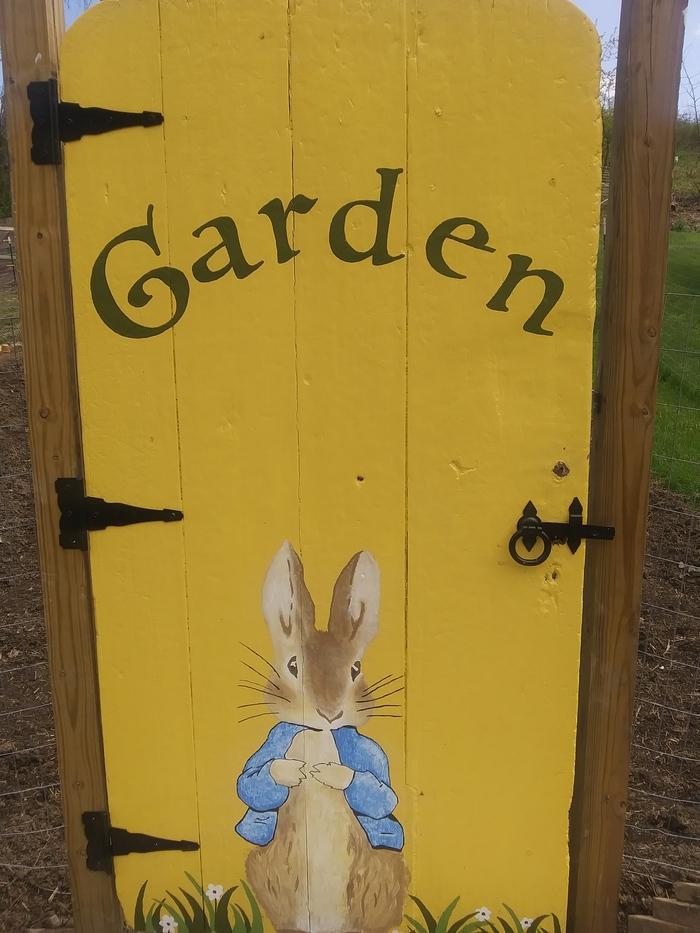 """""""Garden"""" hand painted garden gate 1"""