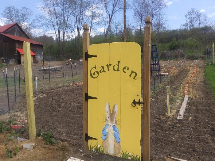 """""""Garden"""" hand painted garden gate 2"""