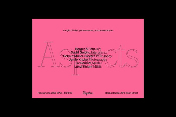 Rapha Aspects event 1