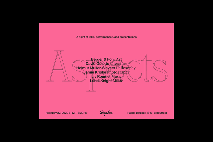 Rapha Aspects event 1
