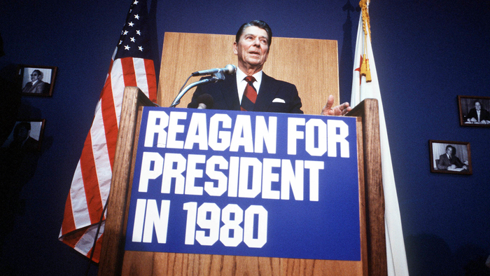 """""""Reagan for President in 1980"""" campaign"""