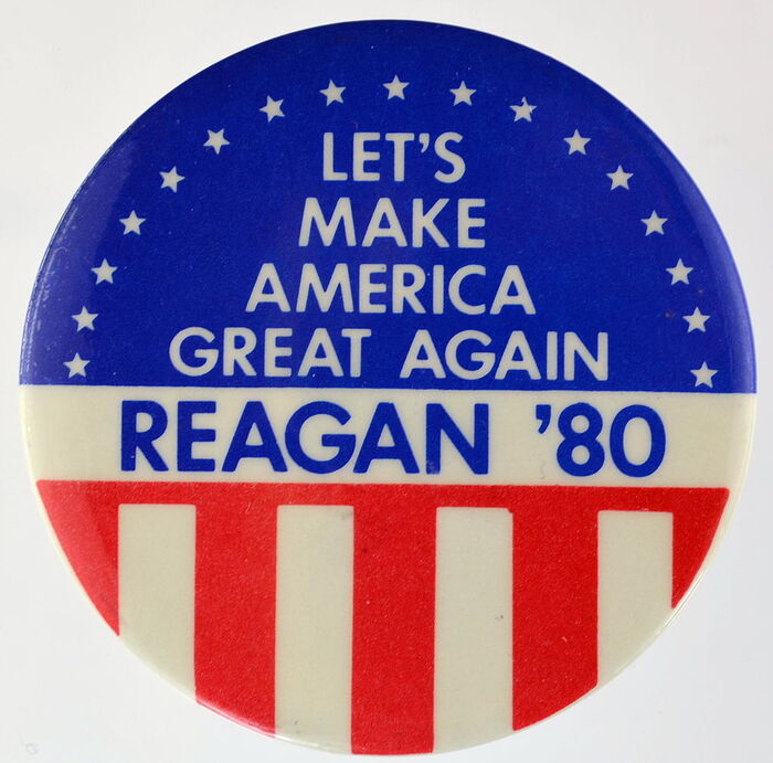 Ronald Reagan 1980 presidential campaign buttons 6