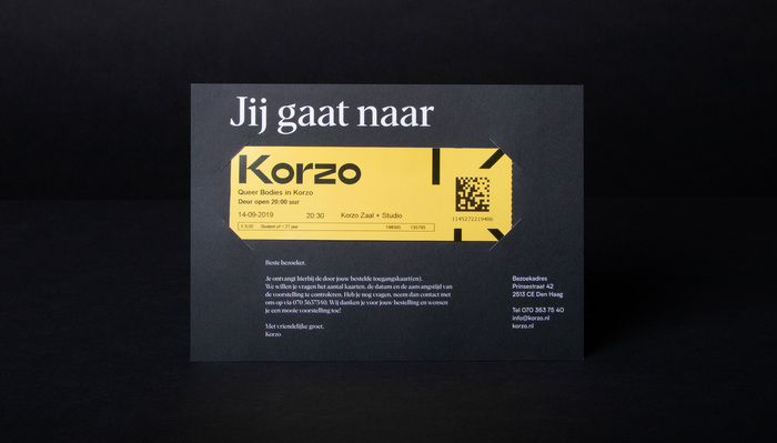Korzo Theater visual identity 4