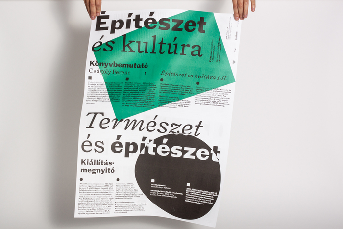 Építészet és kultúra / Természet és építészet poster/brochure 1