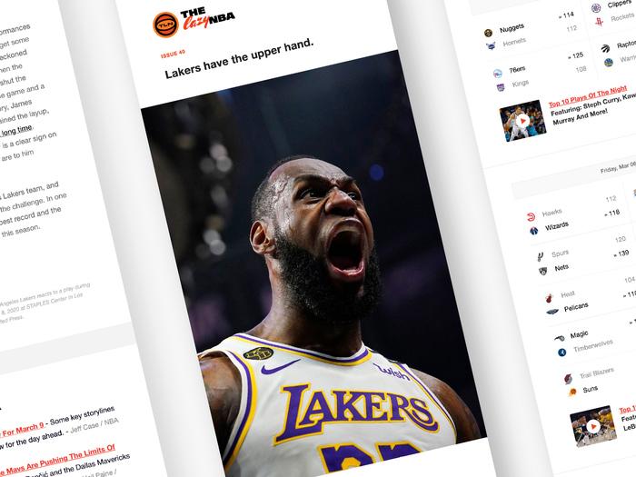 The lazy NBA newsletter 1