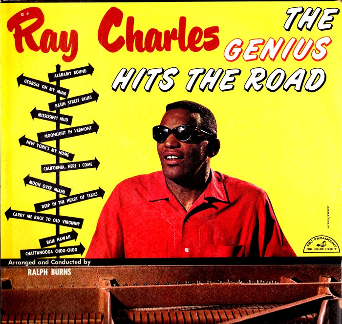 Ray Charles – The Genius Hits The Road album art