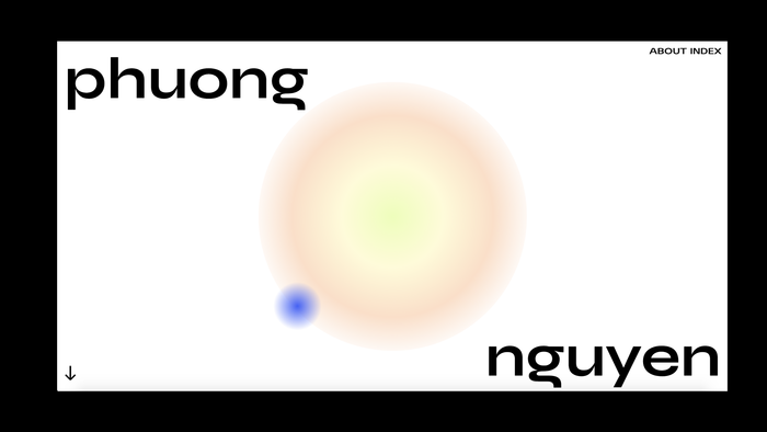 Phuong Nguyen portfolio website 1