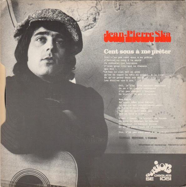 """… with B-side """"Cent Sous À Me Prêter"""", Evasion Disques, 1971."""
