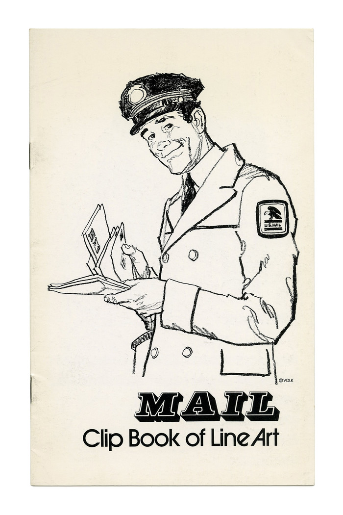 """Mail"" (No. 241) ft. . The subline here uses a bolder weight from , to avoid a too great contrast in weight next to the chunky shadowed slab serif. Illustration by Tom Sawyer."