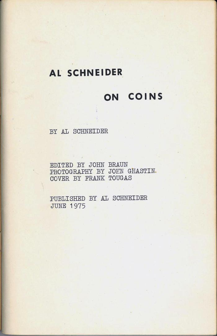 On Coins by Al Schneider 2