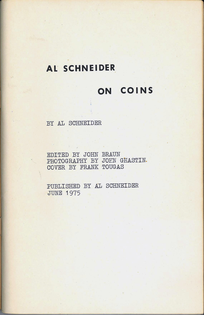 On Coins by Al Schneider 2