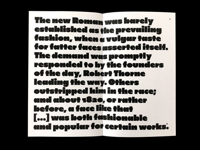 Robert Thorne and the origin of the 'modern' fat face, Poem Pamphlet No.2 3