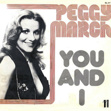 "Peggy March – ""You and I"" Italian single sleeve"
