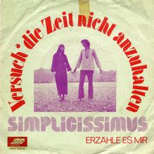 """Simplicissimus – """"Versuch die Zeit nicht anzuhalten"""" single sleeve"""