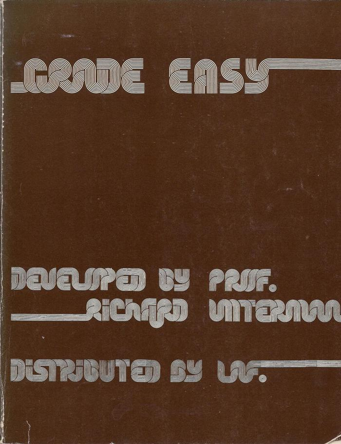 Grade Easy by Richard Untermann 1