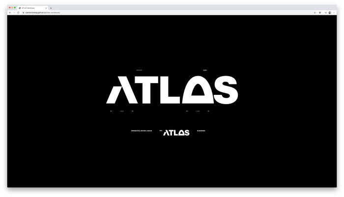 To make the ~650ish ATLAS wordmarks accessible to students, staff, and faculty across the entire organization, ATLAS PhD student Clement Zheng designed a generator that can create custom and/or random vector wordmarks.
