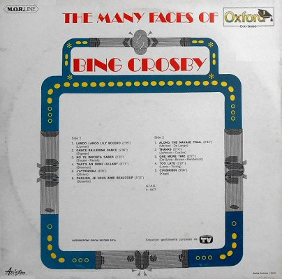 Bing Crosby – The Many Faces Of Bing Crosby album art 3