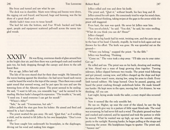 The interior pages are set in  by . Roman numerals mark the beginnings of each chapter. No designer is credited for the book interior.