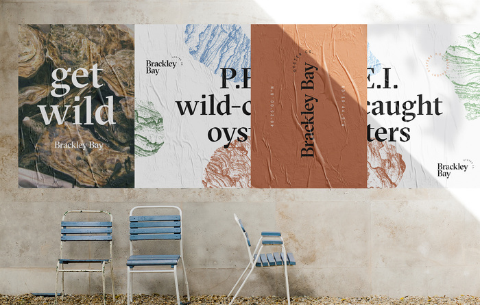 Brackley Bay Oyster Co. visual identity 2