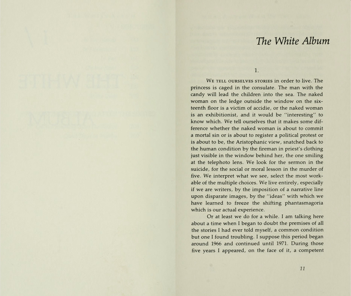 The White Album by Joan Didion, first edition 6