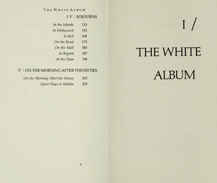 The White Album by Joan Didion, first edition 5