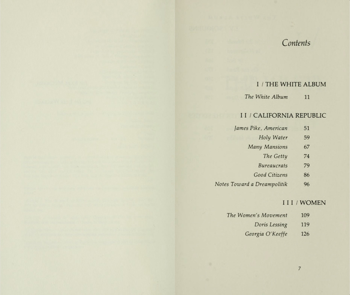 The White Album by Joan Didion, first edition 4