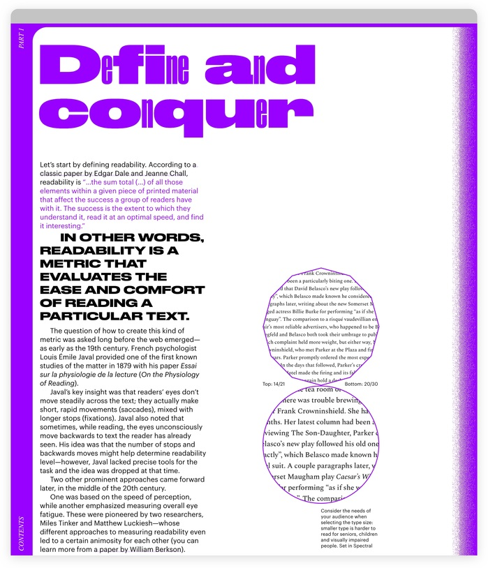 """""""Define and conquer"""" mixes  and . Text is rendered in ."""