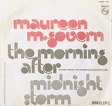 "Maureen McGovern – ""The Morning After"" / ""Midnight Storm"" Dutch single cover"