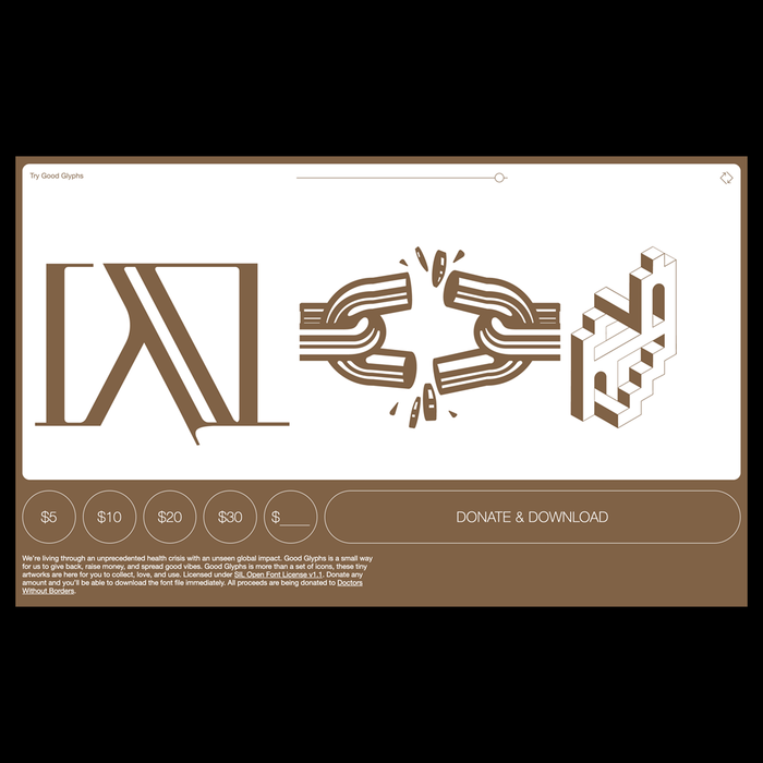 Good Glyphs No. 1 website 2