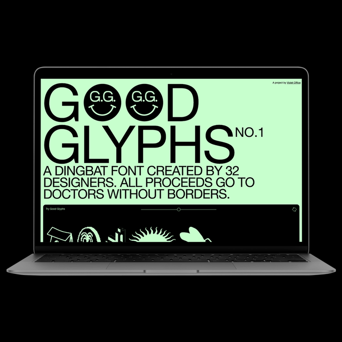 Good Glyphs No. 1 website 1