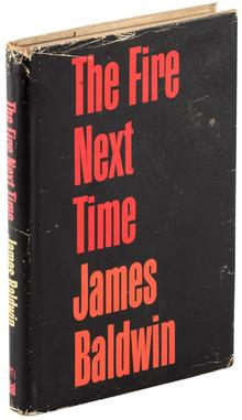 <cite>The Fire Next Time</cite> by James Baldwin, Dial Press