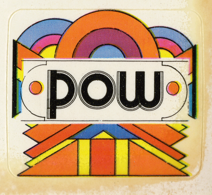 """""""Pow"""" is derived from  (Letraset, 1970). P and W are customized."""