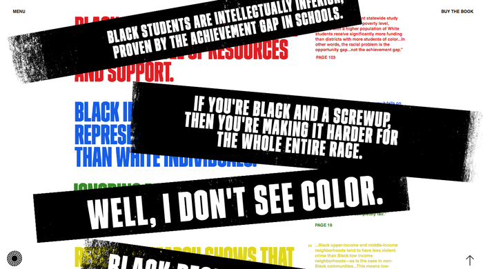 """Press to uncover"" – antiracistfacts.com educates about common prejudices and excuses."