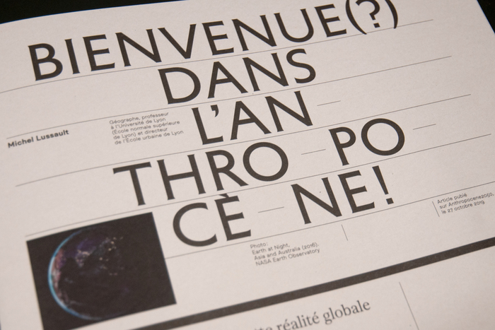 A°2020, le magazine de l'Anthropocène 6