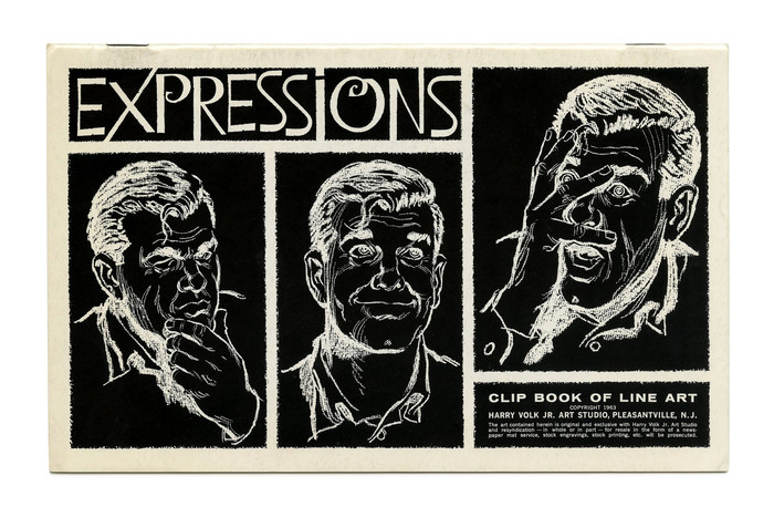 """Expressions"" (No. 378) ft. an adaptation of Walter Haettenschweiler's , drawn for the second volume of Lettera, a source book of alphabets published in 1961."