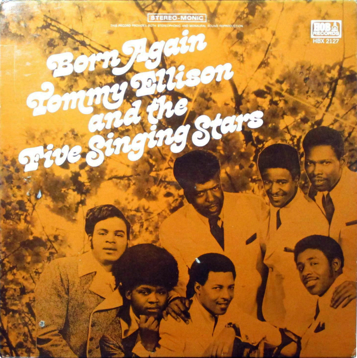 Tommy Ellison & The Five Singing Stars – Born Again album art 1