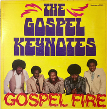The Gospel Keynotes – <cite>Gospel Fire</cite> album art
