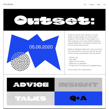 Outset 2020 by Kind Studio