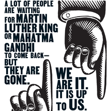 """""""It is up to you."""" Marian Wright Edelman poster"""