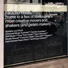 Faraday House signs