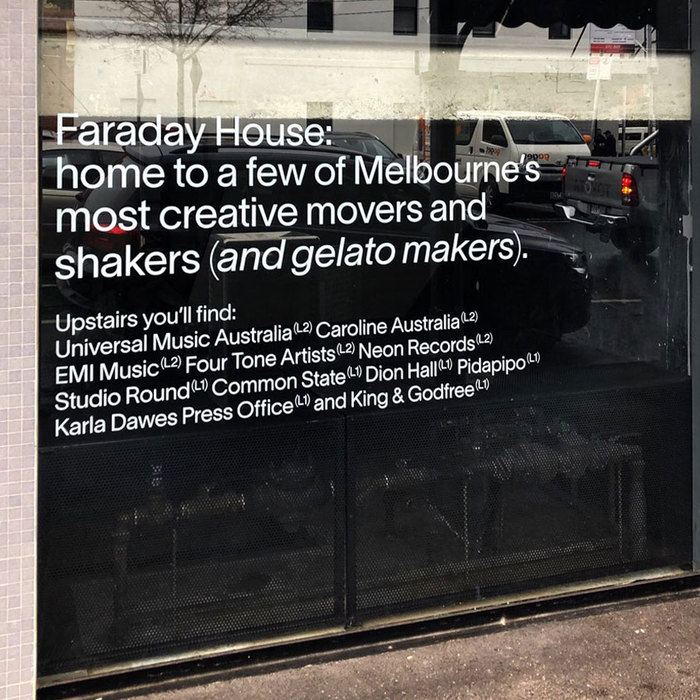 Faraday House signs 1