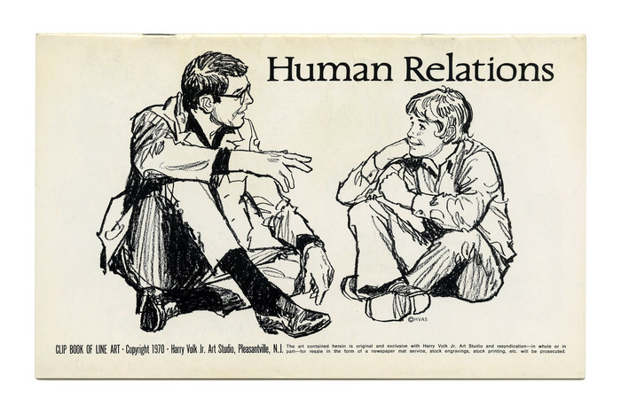 """Human Relations"" (No. 541) in  (Carl Dair, 1967), with slightly stretched letterforms."
