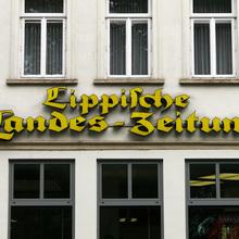 <cite>Lippische Landes-Zeitung</cite> nameplate