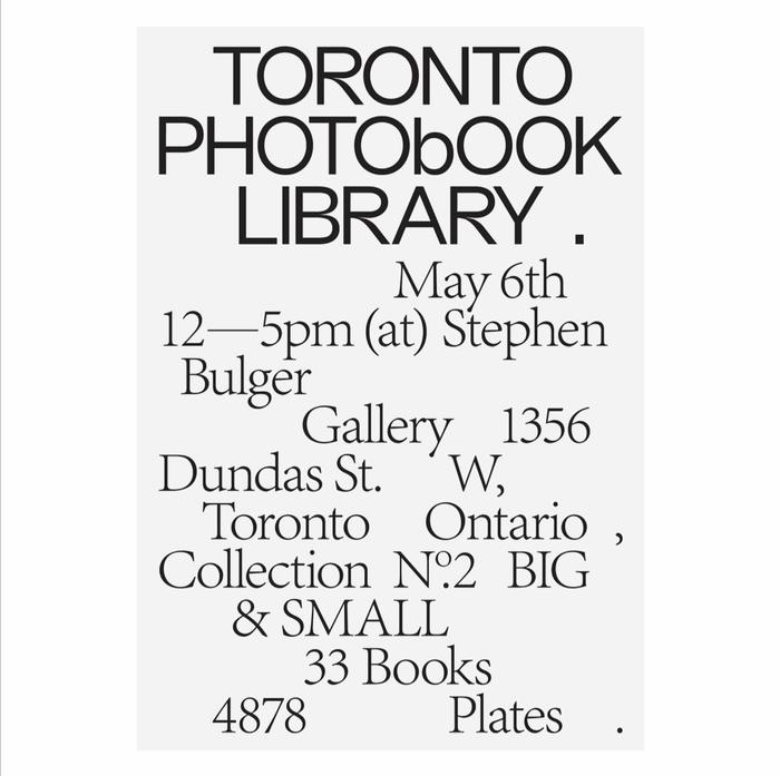 Toronto Photobook Library 3