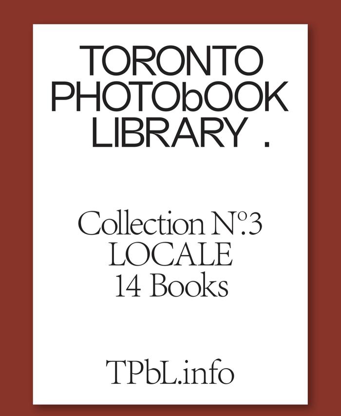 Toronto Photobook Library 4