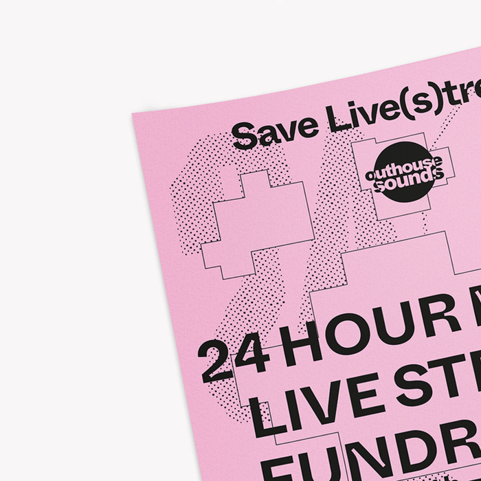 Outhouse Sounds live stream fundraiser poster 2