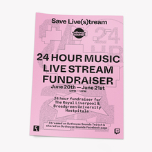 Outhouse Sounds live stream fundraiser poster